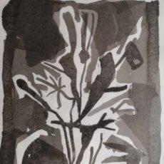 Arte: CABANAS, XAIME (A CORUÑA, 1953 - 2013) SIN TÍTULO. TÉCNICA MIXTA SOBRE PAPEL. Lote 140984430