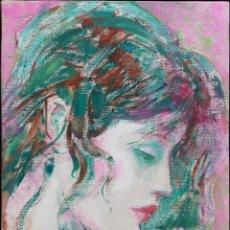 Arte: QUESADA, XAIME (OURENSE, 1937 - 2007). RETRATO. ÓLEO SOBRE LIENZO. Lote 140984650