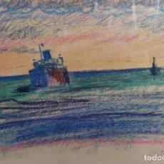 Arte: TENREIRO BROCHÓN , ANTONIO (A CORUÑA, 1923 - 2006). CANABAL. CERAS SOBRE PAPEL. Lote 140987606
