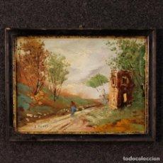 Arte: PINTURA ITALIANA CON PAISAJE EN ESTILO IMPRESIONISTA DEL SIGLO XX. Lote 141073542