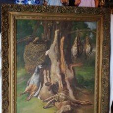 Arte: GRAN BODEGON PINTADO AL OLEO POR ADELARDO PARRILLA (1876-1953).. Lote 141086322