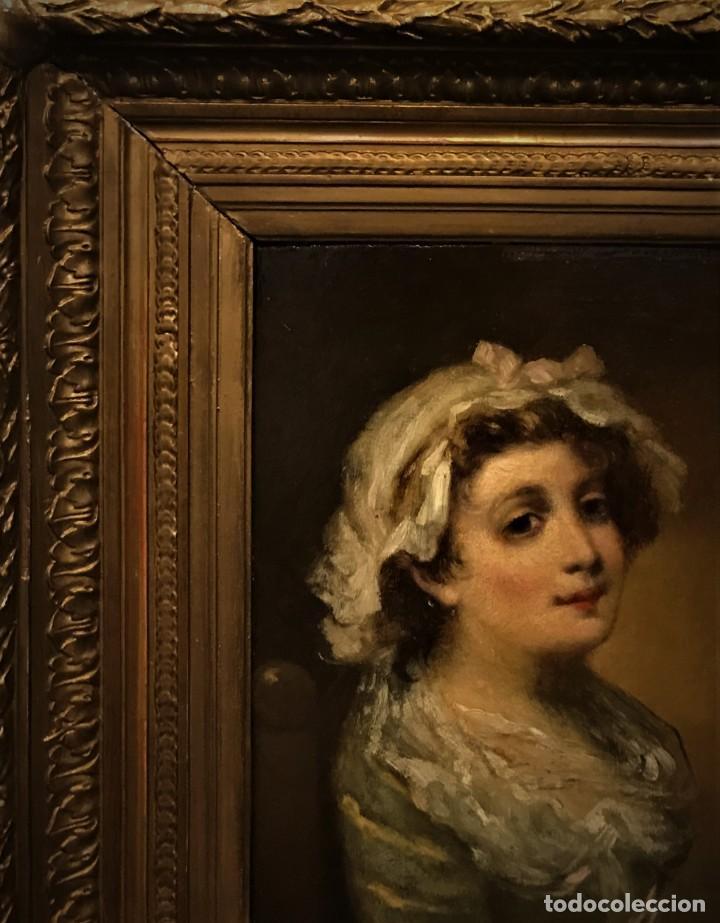 Arte: magistral retrato de dama con con cofia - Foto 3 - 141115706