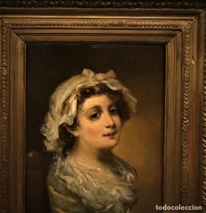 Arte: magistral retrato de dama con con cofia - Foto 4 - 141115706