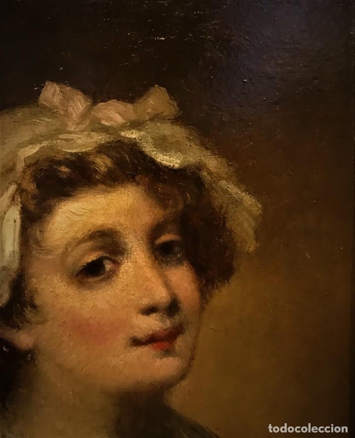 Arte: magistral retrato de dama con con cofia - Foto 5 - 141115706
