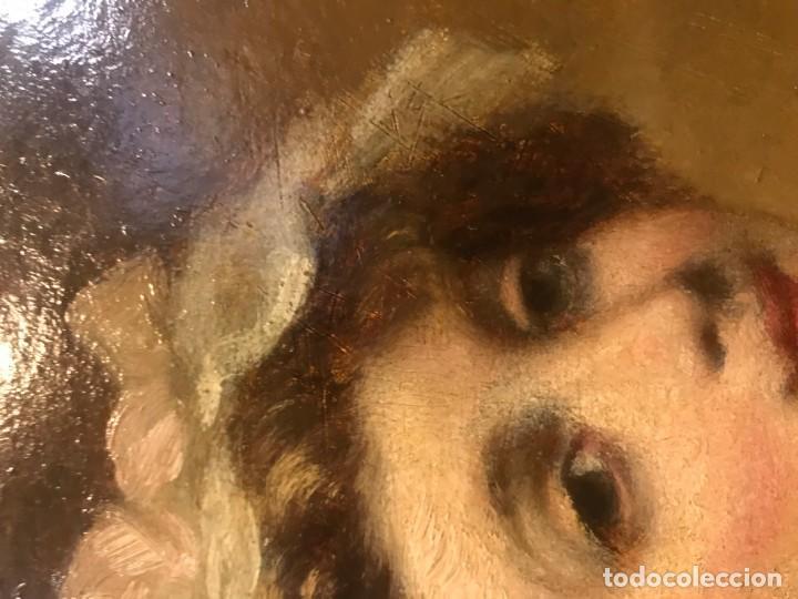 Arte: magistral retrato de dama con con cofia - Foto 6 - 141115706