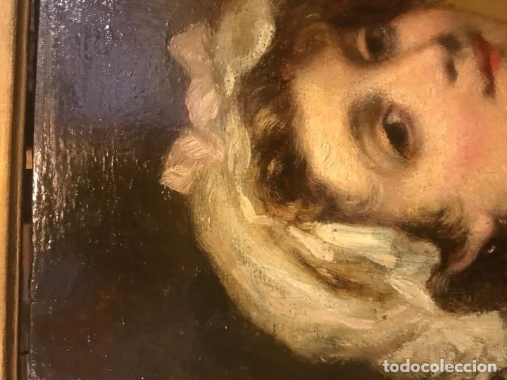 Arte: magistral retrato de dama con con cofia - Foto 7 - 141115706