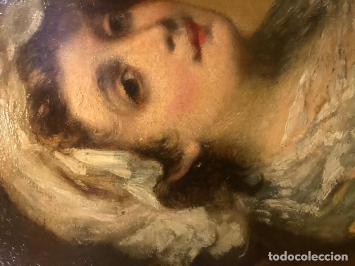 Arte: magistral retrato de dama con con cofia - Foto 8 - 141115706