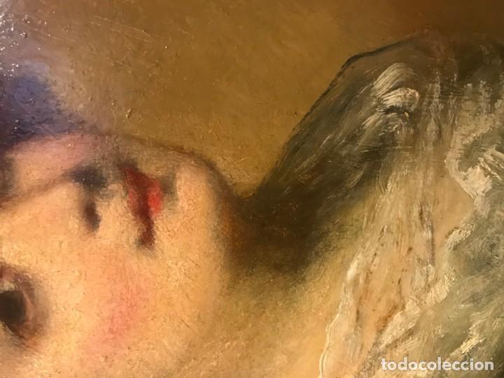 Arte: magistral retrato de dama con con cofia - Foto 9 - 141115706