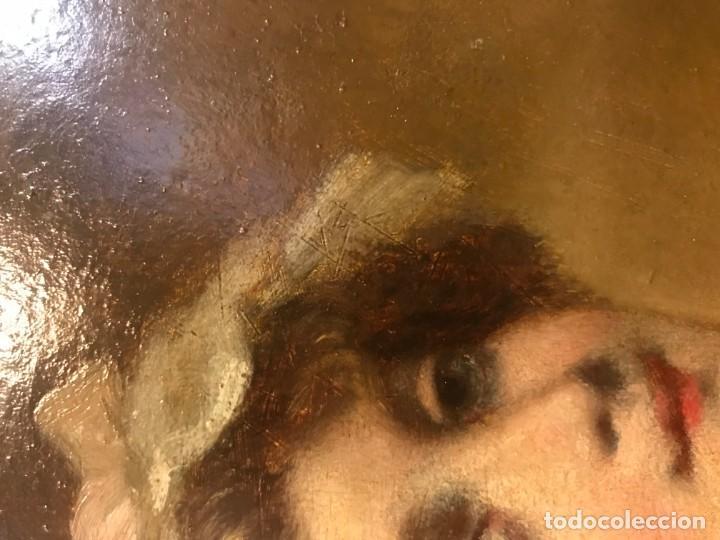Arte: magistral retrato de dama con con cofia - Foto 11 - 141115706