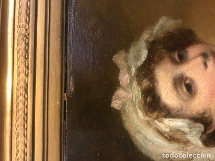 Arte: magistral retrato de dama con con cofia - Foto 13 - 141115706