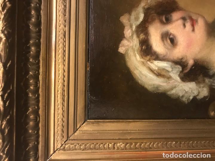 Arte: magistral retrato de dama con con cofia - Foto 14 - 141115706