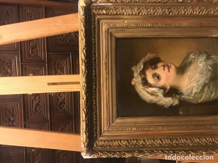 Arte: magistral retrato de dama con con cofia - Foto 15 - 141115706