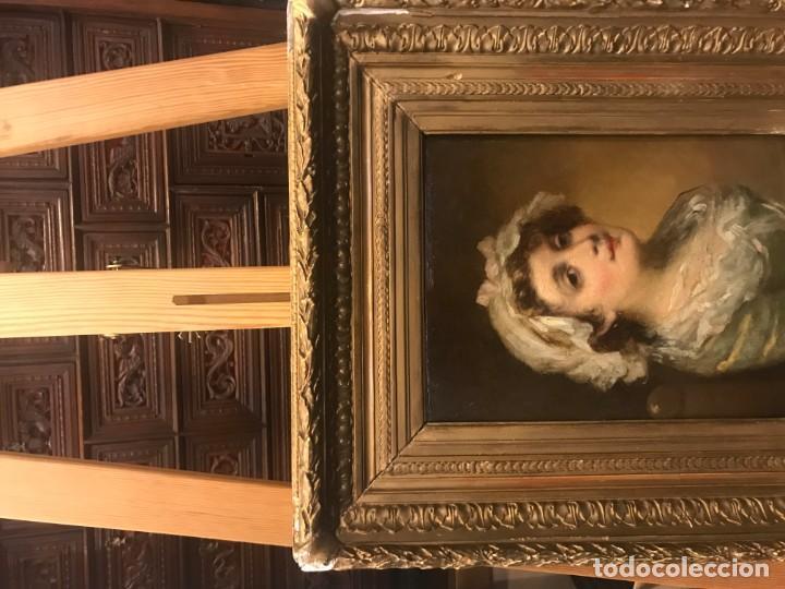 Arte: magistral retrato de dama con con cofia - Foto 16 - 141115706