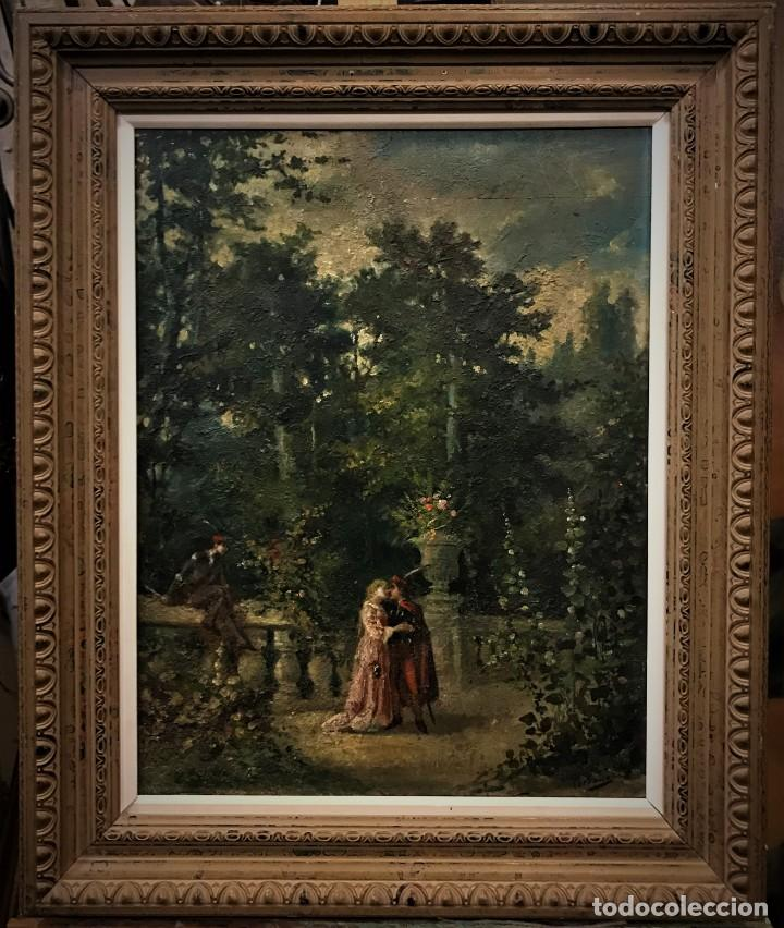ESCENA ROMANTICA ROMEO Y JULIETA (Arte - Pintura - Pintura al Óleo Moderna siglo XIX)