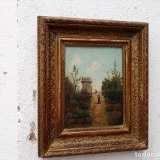 Arte: PINTURA ANTIGUA PAISE EN ROMA AÑO 1889. Lote 141180410