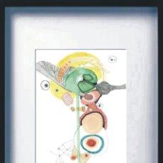 Arte: LÁMINA ARTE ABSTRACTO. IMPRESIÓN PROFESIONAL A PARTIR DEL ORIGINAL- PINTADA EN ACUARELA + ACRÍLICO. Lote 132344134