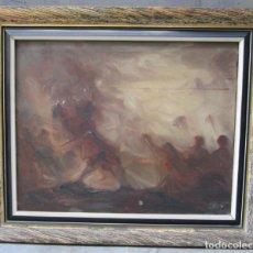 Arte: KALLINIK GOUSSEFF (1898 - 1980), PERSONAJES, PINTURA AL ÓLEO SOBRE TELA. 63X53CM. Lote 141195118