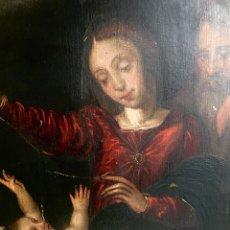 Arte: SAGRADA FAMILIA. ÓLEO SOBRE TABLA. S. XVI.. Lote 141207669