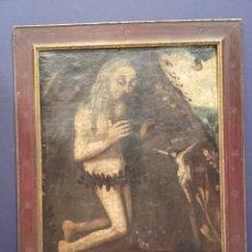 Arte: SAN ONOFRE, REY DE HUNGRÍA. Ó/LIENZO, SIGLO XVII.. Lote 141228941
