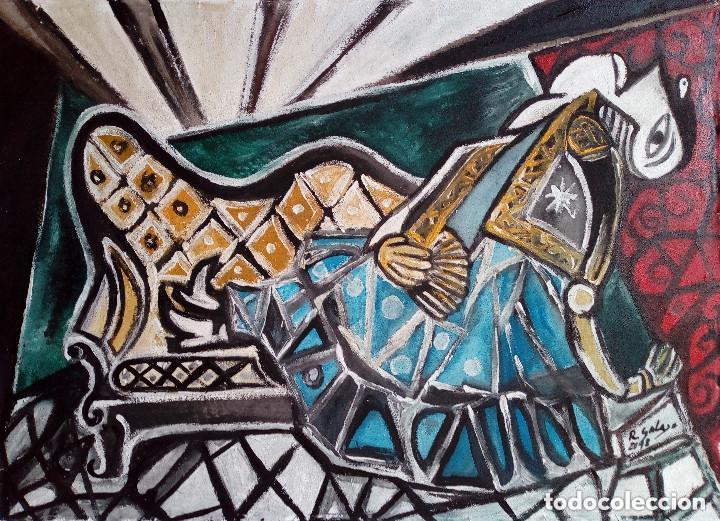 Arte: pintura sobre tela original firmada - Foto 2 - 141250050