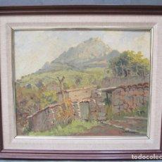 Arte: JOSEP CASTELLANAS GARRICH (1896 - 1980), CASA Y CAMPO, PINTURA AL ÓLEO SOBRE TELA. 54X46CM. Lote 141288394