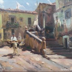 Arte: IGLESIAS SANZ, ANTONIO (MADRID, 1935 - 2013) ESCENA RURAL. ÓLEO SOBRE LIENZO. Lote 141297366