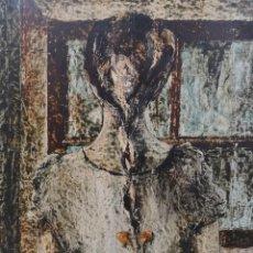 Arte: ARGÜELLES, JULIO FERNÁNDEZ . (ASTORGA, LEÓN, 1923- A CORUÑA 2002). JOVEN DE ESPALDAS. ÓLEO SOBRE TA. Lote 141303610