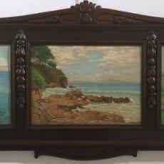 Arte: VERDEJO GARCIARENA, FÉLIX. (ÁLAVA, 1895 - A CORUÑA, 1971) TRÍPTICO DE CORUÑA. ÓLEO SOBRE LIENZO Y Ó. Lote 141308358