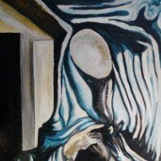 Arte: PINTURA SOBRE TELA ORIGINAL SURREALISTA FIRMADA. Lote 141324230