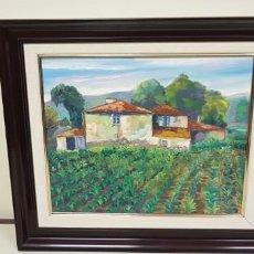 Arte: 1118- OLEO SOBRE TELA PINTOR JULIO LOPEZ 1990 CON MARCO61X55 SOLO OBRA 44X37. Lote 141324650