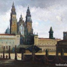 Arte: VILAFÍNS FILLO. JUAN MARTÍNEZ MÍGUEZ. (SANTIAGO DE COMPOSTELA, 1919 - 1985) PRAZA DO OBRADOIRO. . Lote 141456298