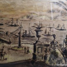Kunst - Arturo Souto (Pontevedra, 1902 - México, 1964) .Marina. Acuarela - 141456682