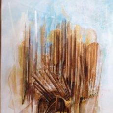 Arte: ALFONSO COSTA BEIRO . (NOIA, CORUÑA 1943). COMPOSICIÓN. TÉCNICA MIXTA SOBRE PAPEL. Lote 141460950