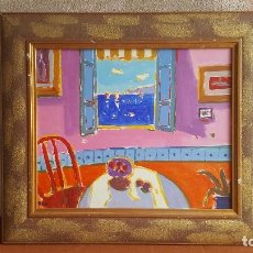 Arte: ÓLEO LIENZO MANUEL DOBLAS PINTO- ROYO. VENTANA AL MAR. ARTE MODERNO.. Lote 141498950
