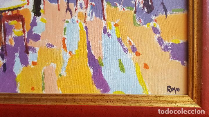 Arte: Óleo sobre lienzo de Royo. Manuel Doblas Pinto. Cuadro contemporáneo. - Foto 5 - 141499202