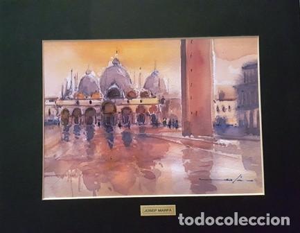 PINTURA ACUARELA VENECIA DE JOSEP MARFA GUARRO - BARCELONA - - Nº1 A - (Arte - Pintura Directa del Autor)