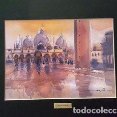 Arte: PINTURA ACUARELA VENECIA DE JOSEP MARFA GUARRO - BARCELONA - - Nº1 A -. Lote 141519710