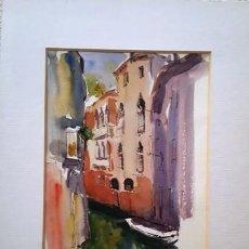 Arte: PINTURA ACUARELA VENECIA DE JOSEP MARFA GUARRO - BARCELONA - - Nº1 A -. Lote 141519926