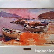 Arte: PINTURA ACUARELA LLANÇA DE JOSEP MARFA GUARRO - BARCELONA - - Nº1 A -. Lote 141522318