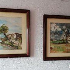 Arte: PAREJA DE CUADROS DE PAISAJES. Lote 141547866