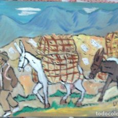 Arte: TRANSPORTANDO LA FARFOLLA EN JERPILES.ÓLEO SOBRE MADERA DE 30X40 CM. DE CRESPO. Lote 141613782