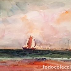 Arte: PINTURA ACUARELA DE JOSEP MARFA GUARRO - BARCELONA - Nº1 B -. Lote 141614738