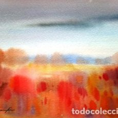 Arte: PINTURA ACUARELA. PAISATGE - DE JOSEP MARFA GUARRO - BARCELONA - Nº1 B -. Lote 229711070