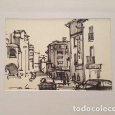 Arte: PINTURA DIBUJO A TINTA ANDORRA DE JOSEP MARFA GUARRO - BARCELONA - Nº1 B -. Lote 141615682