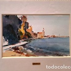 Arte: PINTURA ACUARELA - COLLIOURE - DE JOSEP MARFA GUARRO - BARCELONA - Nº1 C -. Lote 141627078