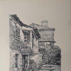 Arte: JOSÉ RAMÓN. (A CORUÑA, 1939) BALCÓN E HÓRREO, PONTE DO PORCO. GRABADO. Lote 141643906