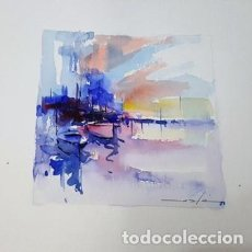 Arte: PINTURA ACUARELA - VAIXELLS - DE JOSEP MARFA GUARRO - BARCELONA - Nº1 C -. Lote 151914593