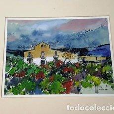 Arte: PINTURA ACUARELA - HOSPITALET BCN - DE JOSEP MARFA GUARRO - BARCELONA - Nº1 C -. Lote 141667350