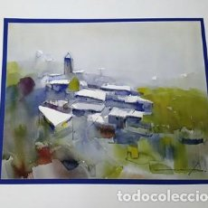 Arte: PINTURA ACUARELA - ANDORRA - DE JOSEP MARFA GUARRO - BARCELONA - Nº1 C -. Lote 141667926