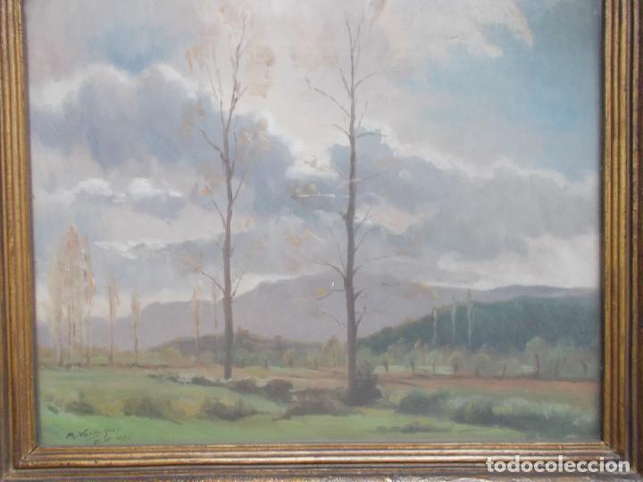 Arte: MAURICI VALLS QUER (VALLSQUER). CELAJE, ÓLEO SOBRE TABLA. FIRMADO Y FECHADO EN OLOT EN 1936. - Foto 3 - 141705402